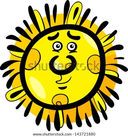 Comic Pictures of The Sun of Funny Sun Comic Mascot