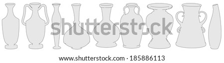 cartoon image of antique vases