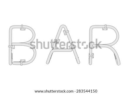 cartoon image of bar sign - stock photo