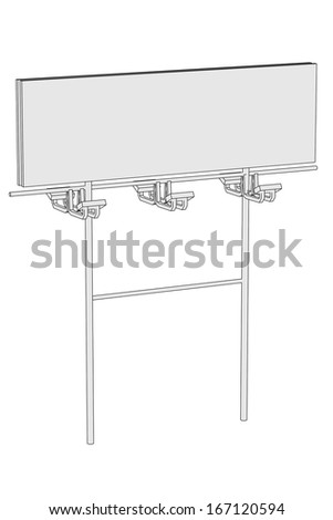 cartoon image of billboard desk