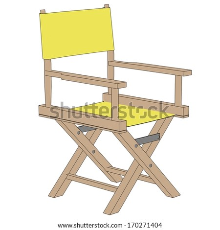 cartoon image of director chair