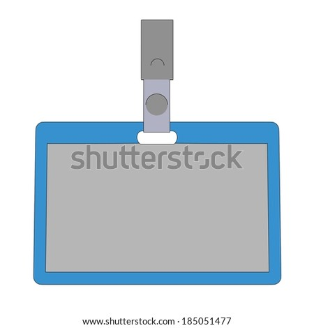 cartoon image of ID badge