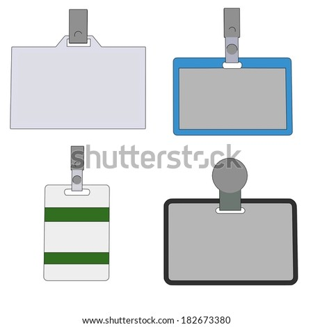 cartoon image of ID badges