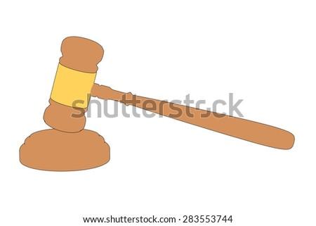 cartoon image of judge gavel - stock photo