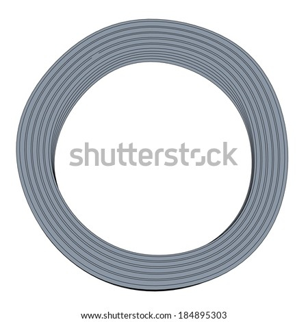 cartoon image of metal wire
