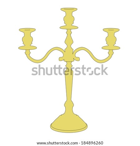 cartoon image of old candlestick