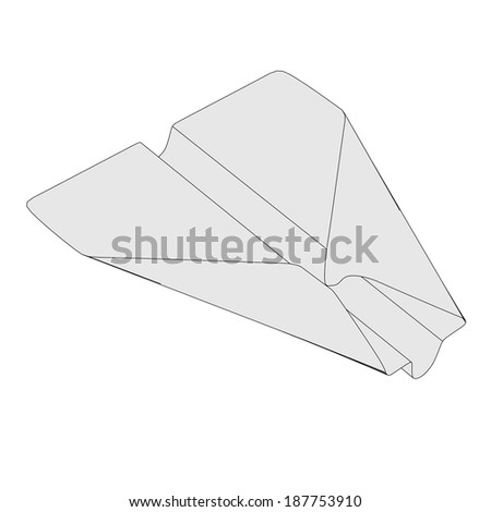 cartoon image of origami plane