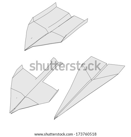 cartoon image of paper planes
