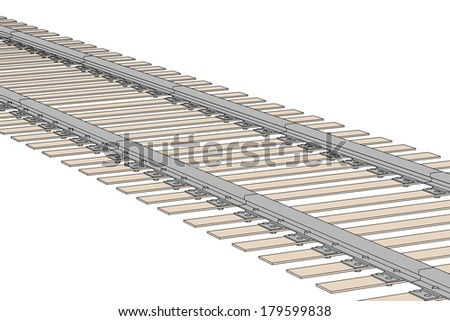 cartoon image of railway track