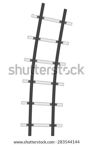 cartoon image of railway (transport) - stock photo