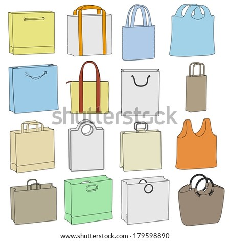 cartoon image of shopping bags