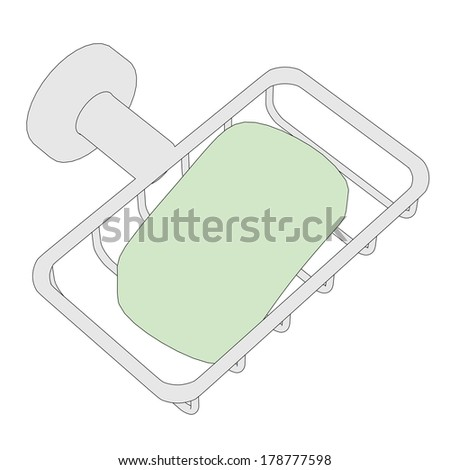 cartoon image of soap holder