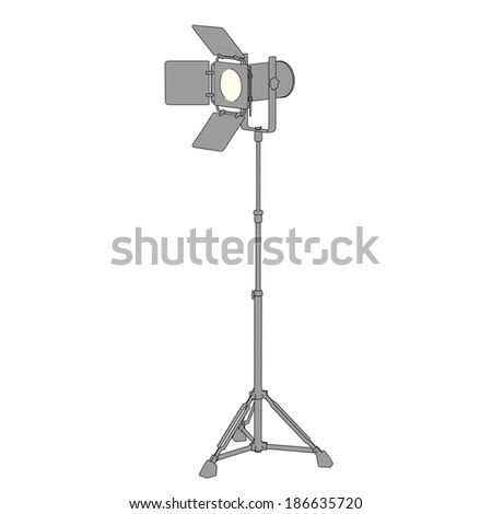 cartoon image of stage light