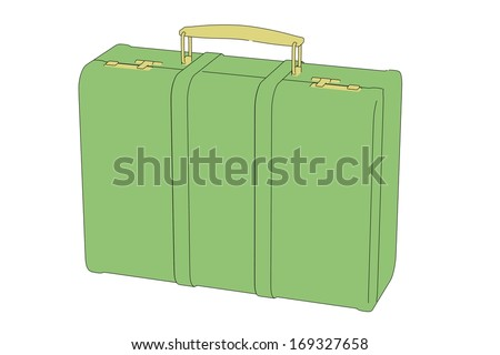 cartoon image of suitcase (luggage)