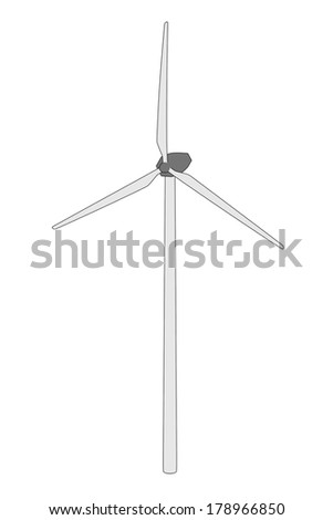 cartoon image of wind turbine