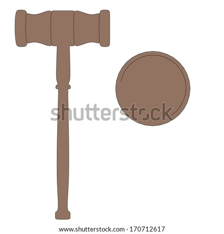 cartoon image of wooden gavel