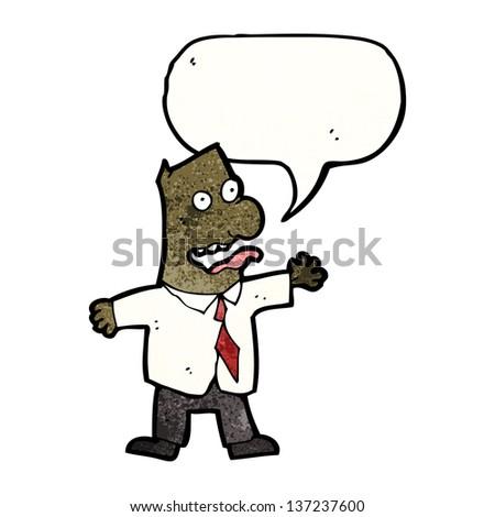 cartoon insane boss - stock photo