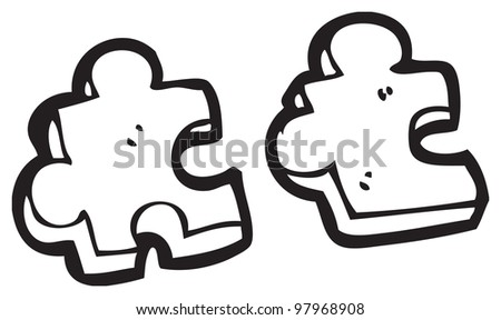cartoon jigsaw piece