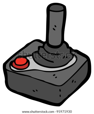 cartoon joystick cartoon - stock photo