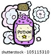 cartoon magic potion - stock vector