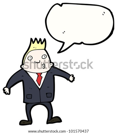 cartoon man with speech bubble