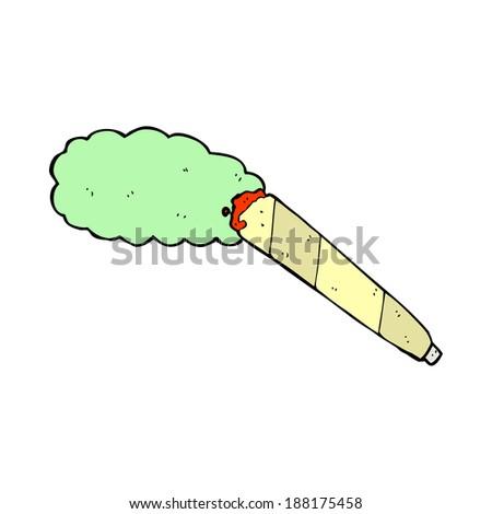 cartoon marijuana cigarette - stock photo