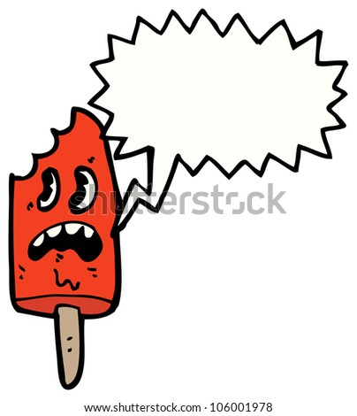 cartoon melting ice lolly