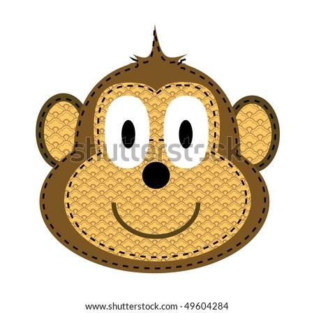 Happy Cartoon Gorilla Face Cartoon Monkey ...