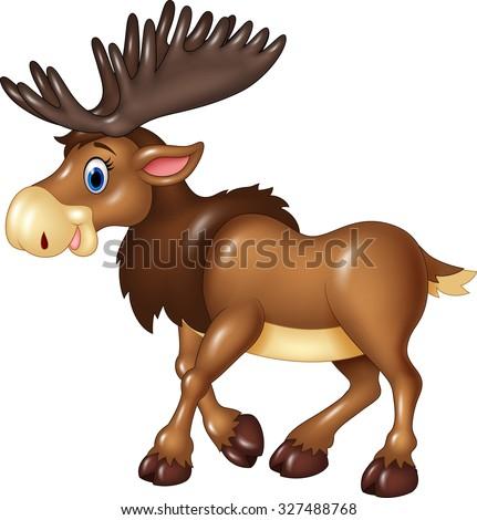 Moose face cartoon - photo#35