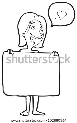 Cartoon pic of naked woman