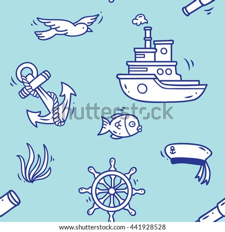 cartoon nautical background