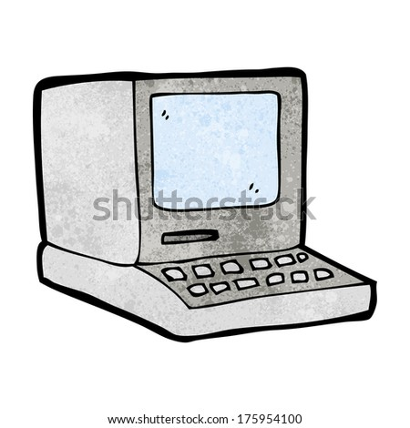 cartoon old computer