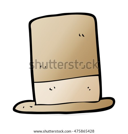 cartoon old hat