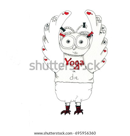 Cartoon owl has yoga class cartoon stock illustration 695956360 cartoon owl has yoga class cartoon animals can be used for baby t m4hsunfo