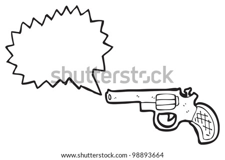 cartoon pistol