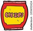 cartoon potato chips - stock photo