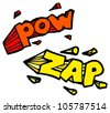 cartoon pow zap sign symbol - stock photo