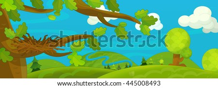 Cartoon scene - background for different usage - for game or book - illustration for children