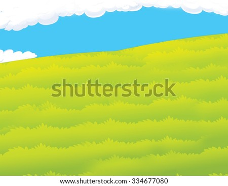 Cartoon scene - background - illustration for the children - stock photo