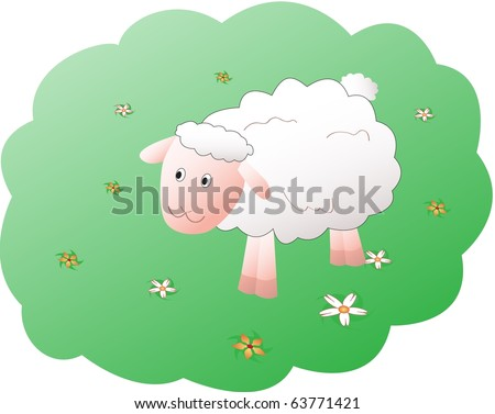 CArtoon sheep illustration - stock photo