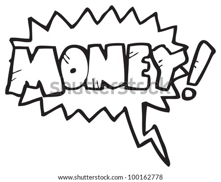 cartoon shout for money