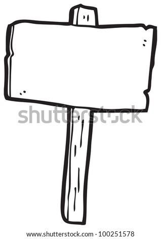 cartoon sign post - stock photo