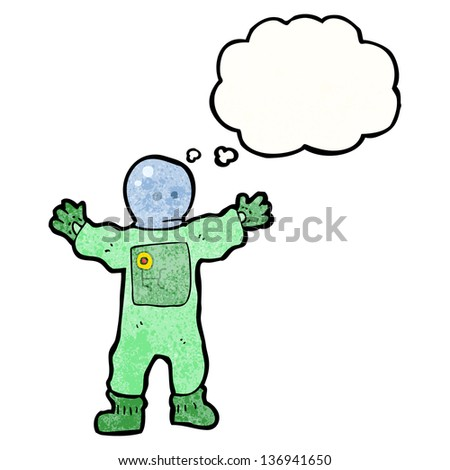 cartoon spaceman