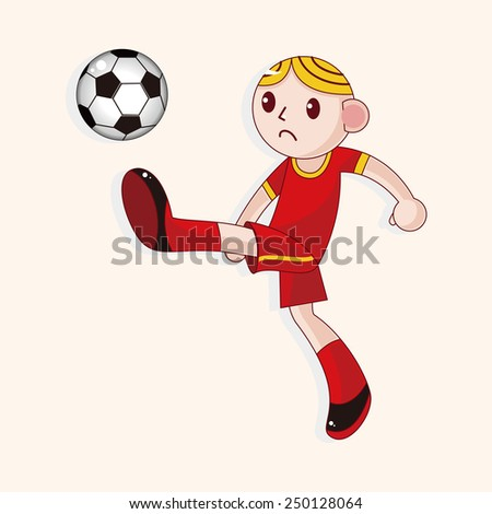 cartoon Sport soccer player