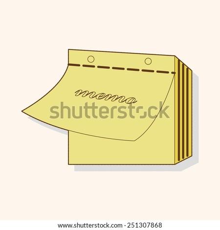 cartoon stationary note   - stock photo