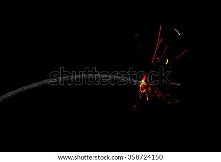 Cartoon style Fuse Burning - stock photo