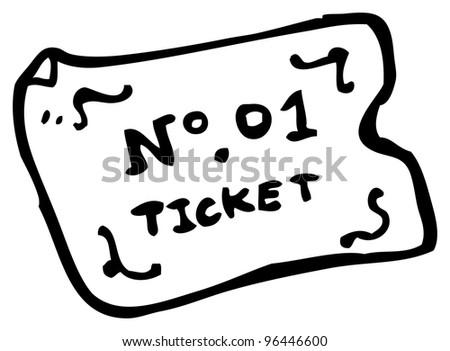 cartoon ticket - stock photo