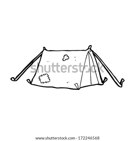 cartoon traditional tent