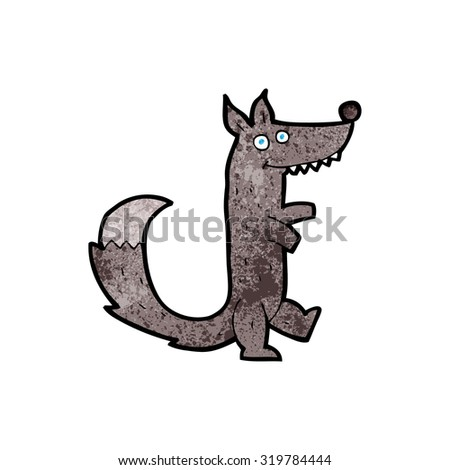 cartoon wolf - stock photo