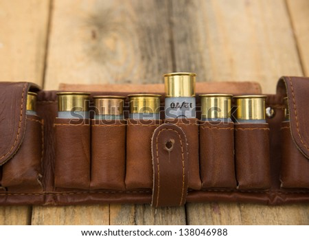 cartridge belt - stock photo